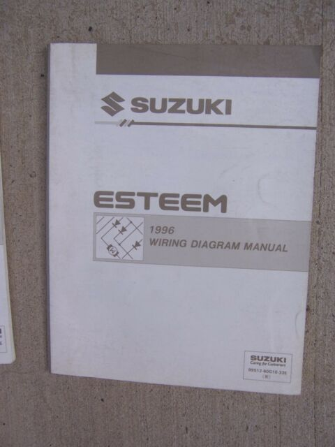 1996 Suzuki Esteem Auto Wiring Diagram Manual Circuit