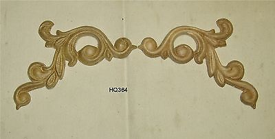 "WOOD EMBOSSED APPLIQUE CARVING  4/""  X  13 3//4/""   HQ469"