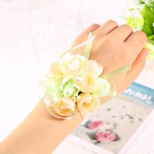2016 Fashion Silk Bridal Bridesmaid Handmade Bouquet Hand Flowers Wrist Corsages