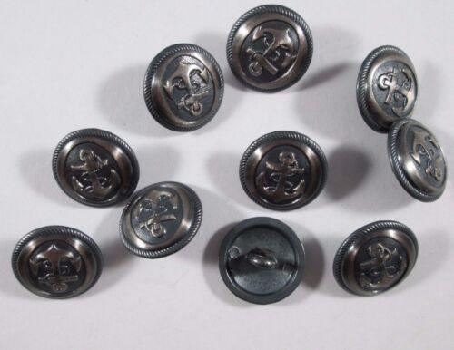 Botón de metal botones 10 trozo de anclaje hierro cepillado 15 mm grande #414#