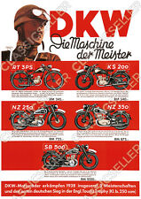 Zündapp DS 350 Motorrad am See Fluss Vorkrieg Poster Plakat Bild Schild DS350
