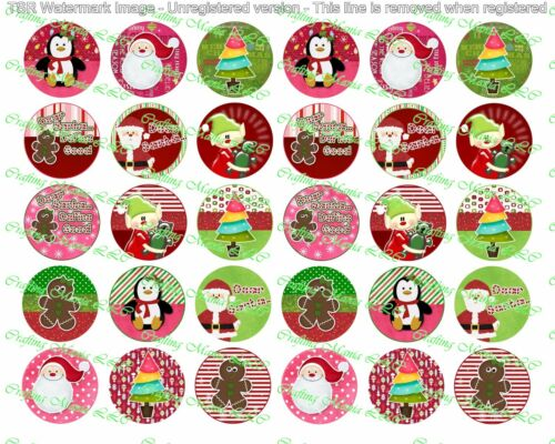 "30 Precut 1/"" Christmas Images Set 1"