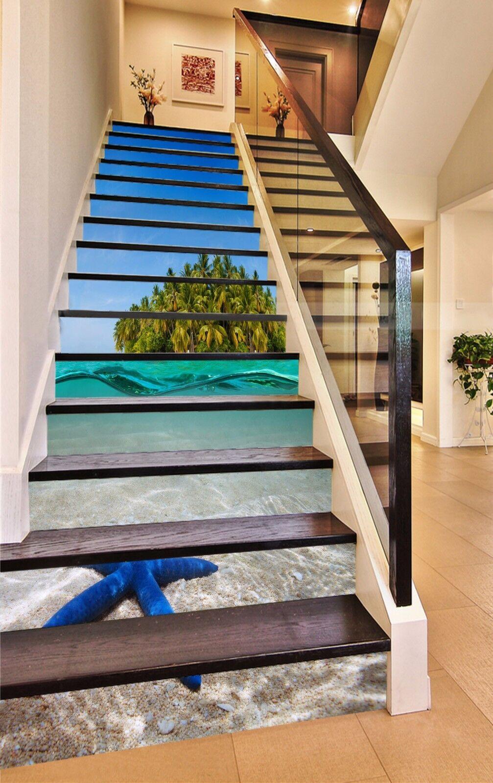 3D Sea Island 764 Stair Risers Decoration Photo Mural Vinyl Decal Wallpaper AU