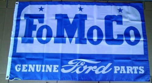 Ford FoMoCo Parts Flag 3/' X 5/' Polyester Flag Banner NEW # 647