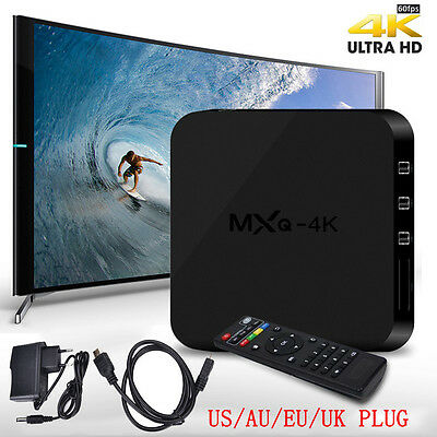 MXQ-4K Android 4.4 Smart 1080P WIFI Media Player TV Box Quad Core RK3229 3D 4K