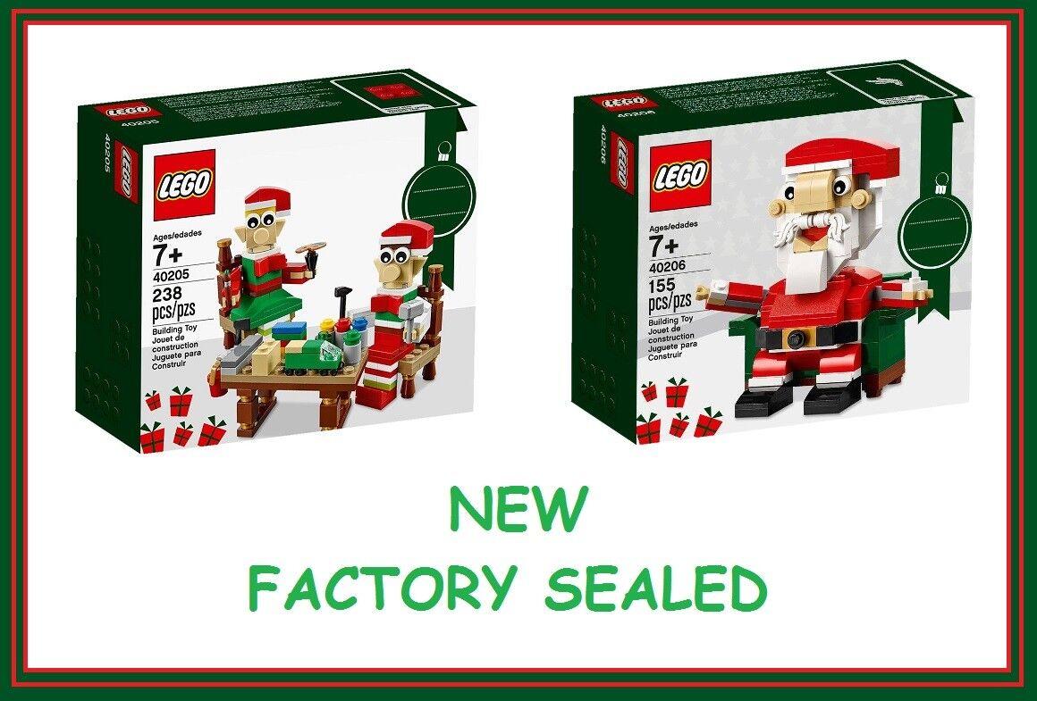 Lego set 40205 40206 2 Little Elf Helpers Christmas gift toy present Santa New @