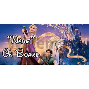 1 Disney Tangled Personalised Baby On Board Car Sign