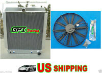 Aluminum Alloy Radiator Chevy Pickup/truck C/k At 1947-1954 1948 1949 1950 + Fan