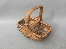 Ancien petit panier en osier déco vintage art populaire french antique
