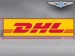 DHL LOGO RECTANGULAR DECAL / STICKER