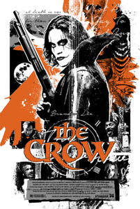 The-Crow-by-James-Rheem-Davis-Screen-Print-Limited-Edition-Mondo-42-66-Signed