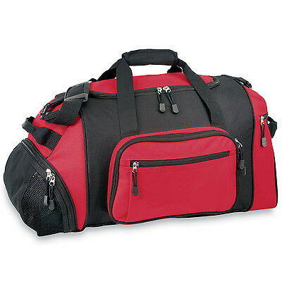 """GP 20"""" Lightweight Red Dual Sport & Travel Carry-On Gym Duffel with Cooler Bag"""