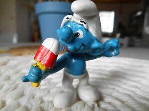Figurine-schtroumpf-Schleich-20053-SUCE-UNE-GLACE-Smurf-Puffi-Pitufo-Schlumpf