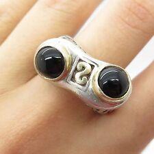 Dewa 925 Sterling Silver Real Black Onyx Gemstone Men's Ring Size 8