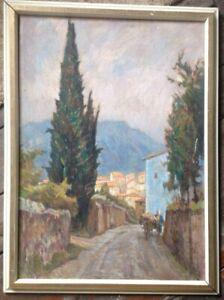 HANS-OERTLE-1897-NURNBERG-CAMPIONE-D-ITALIA-LOMBARDEI-LUGANO-OLGEMALDE-ANTIK
