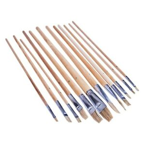 12 Pièce Flat Tip Xl Artiste Paint Brush Set Qualité Professionnelle Art And Craft-afficher Le Titre D'origine Qut8foxh-07234511-861255588