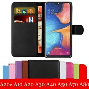 Case-For-Samsung-Galaxy-A20e-A40-A50-A70-A30-A10-Leather-Flip-Card-Wallet-Cover