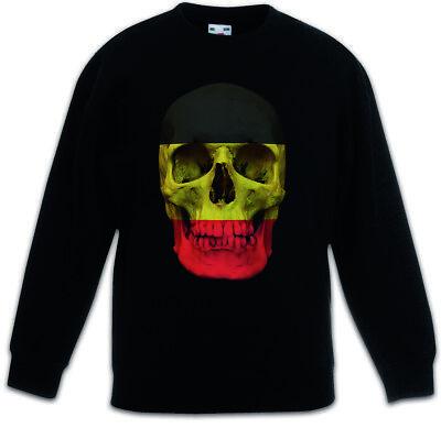 Summer Tops for Boys Retro Skull Full Printed Short Sleeve Crew Neck Tees Youth T-Shirts