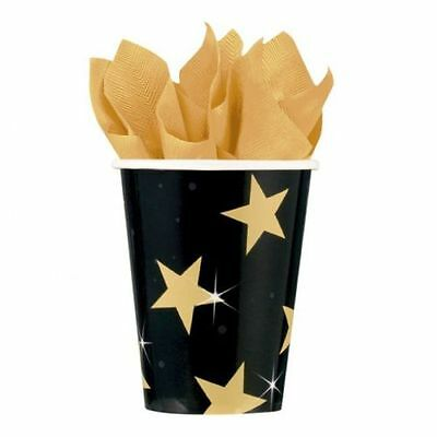 Pack of 8 Movie Star Paper Party Cups - Hollywood Party Tableware Decorations