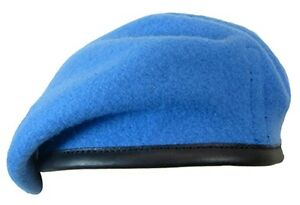 a91c965848b42 100% Wool BRITISH BERET - All Sizes UNITED NATIONS Light Blue ...