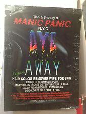 MANIC PANIC!!!.....HAIR DYE Skin - Stains REMOVER WIPE