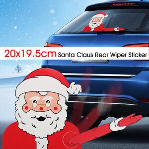 Color Name 3 Car Rear Window Wiper Sticker Christmas Car
