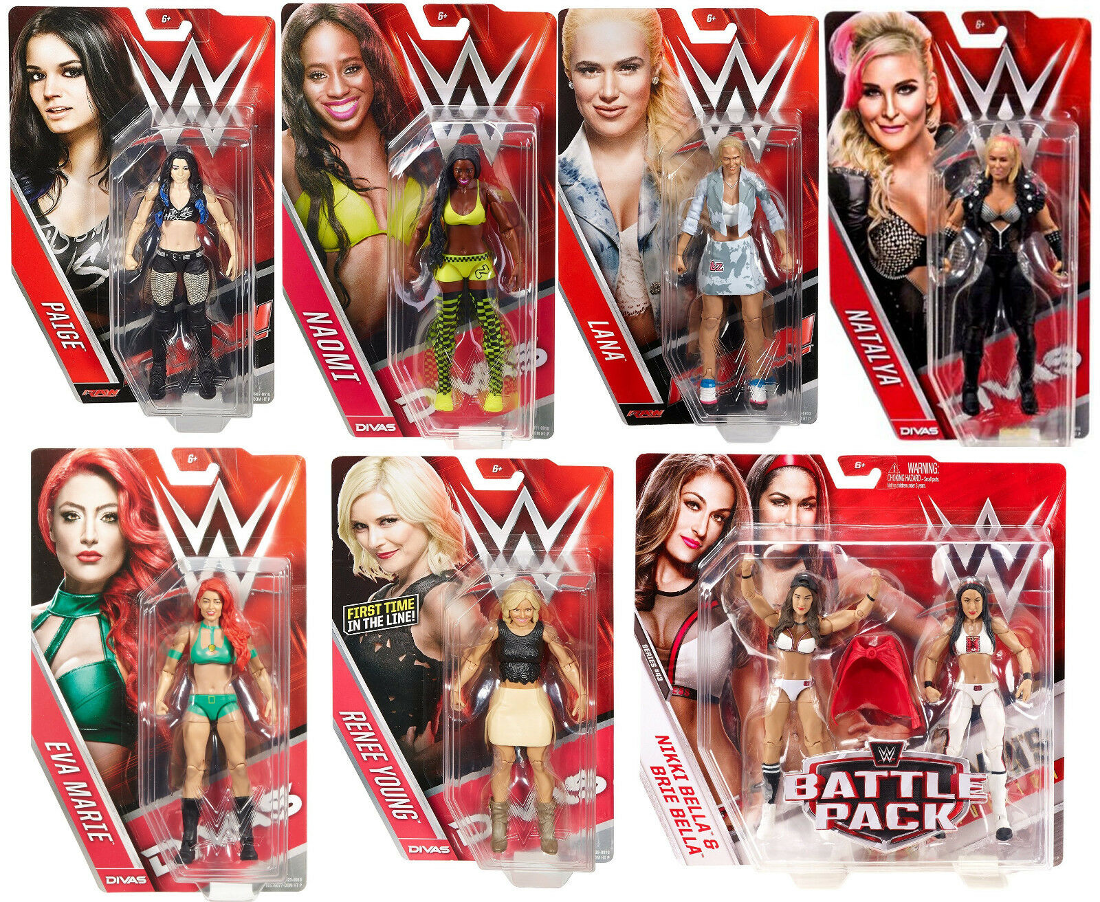 WWE WOMANS WRESTLING TOTAL DIVAS LOT BELLA RENEE NAOIMI NATTIE LANA PAIGE EVA