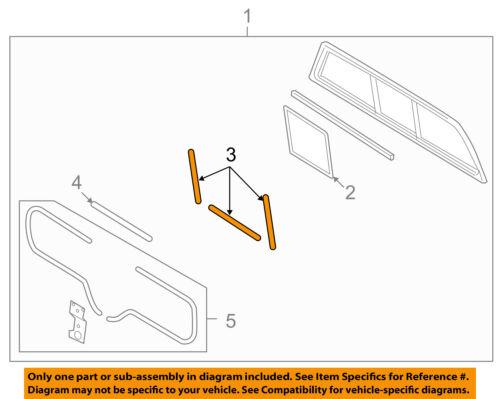 FORD OEM Rear Window Glass-Weatherstrip Seal 6L3Z1542052A