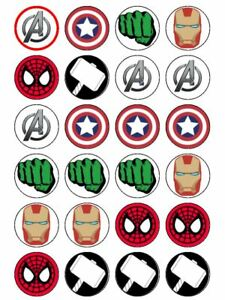 Avengers Cupcake Topper Iron Man Spider-Man Hulk Captain ...