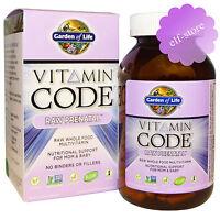 Garden Of Life, Vitamin Code, Raw Prenatal, 90 Or 180 Veggie Caps
