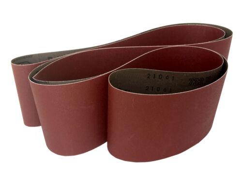 Sanding Belts 4 X 106 Cloth Aluminum Oxide Sander Belts 3 Pack, 60 Grit