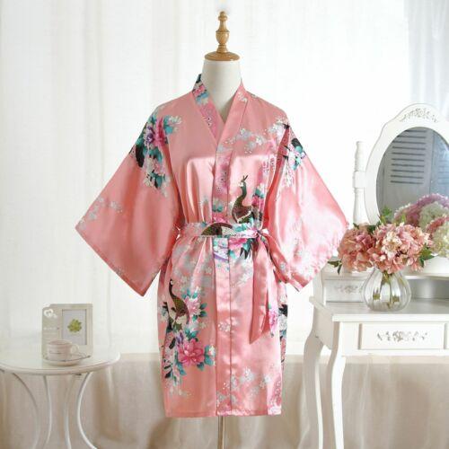 Satin Silk bride robe Wedding Robe Bridesmaid Bride Dressing Gown kimono robe