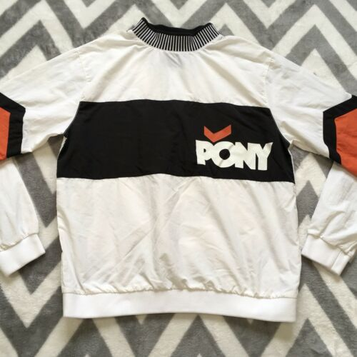 Pullover Colorblock Small Jacket Shirt 21 White Black Nylon Pony Forever Womens 0vXzT
