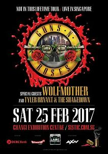 Guns N Roses Concerts 2017 : guns n 39 roses not in this lifetime tour 2017 singapore concert poster axl rose ebay ~ Hamham.info Haus und Dekorationen
