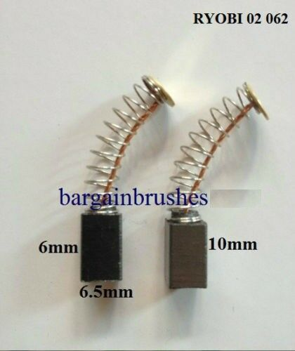 CARBON BRUSHES FOR RYOBI 6540653 6X6.X10//11mm  MD10 ELECTRIC DRILL318,02 062,E40