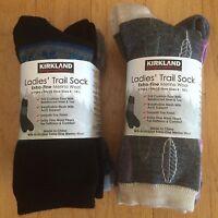 Kirkland Ladies Merino Wool Trail Socks - 4 Pair - 2 Color Sets - Womens