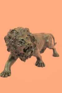 Collectible-Statue-bronze-sculpture-Animal-Barye-Wildlife-African-Lion-Figurine