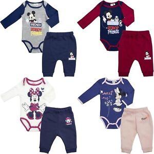 Disney-Baby-Boys-Girls-Mickey-Minnie-2-pieces-baby-set-pants-body-3-24-months