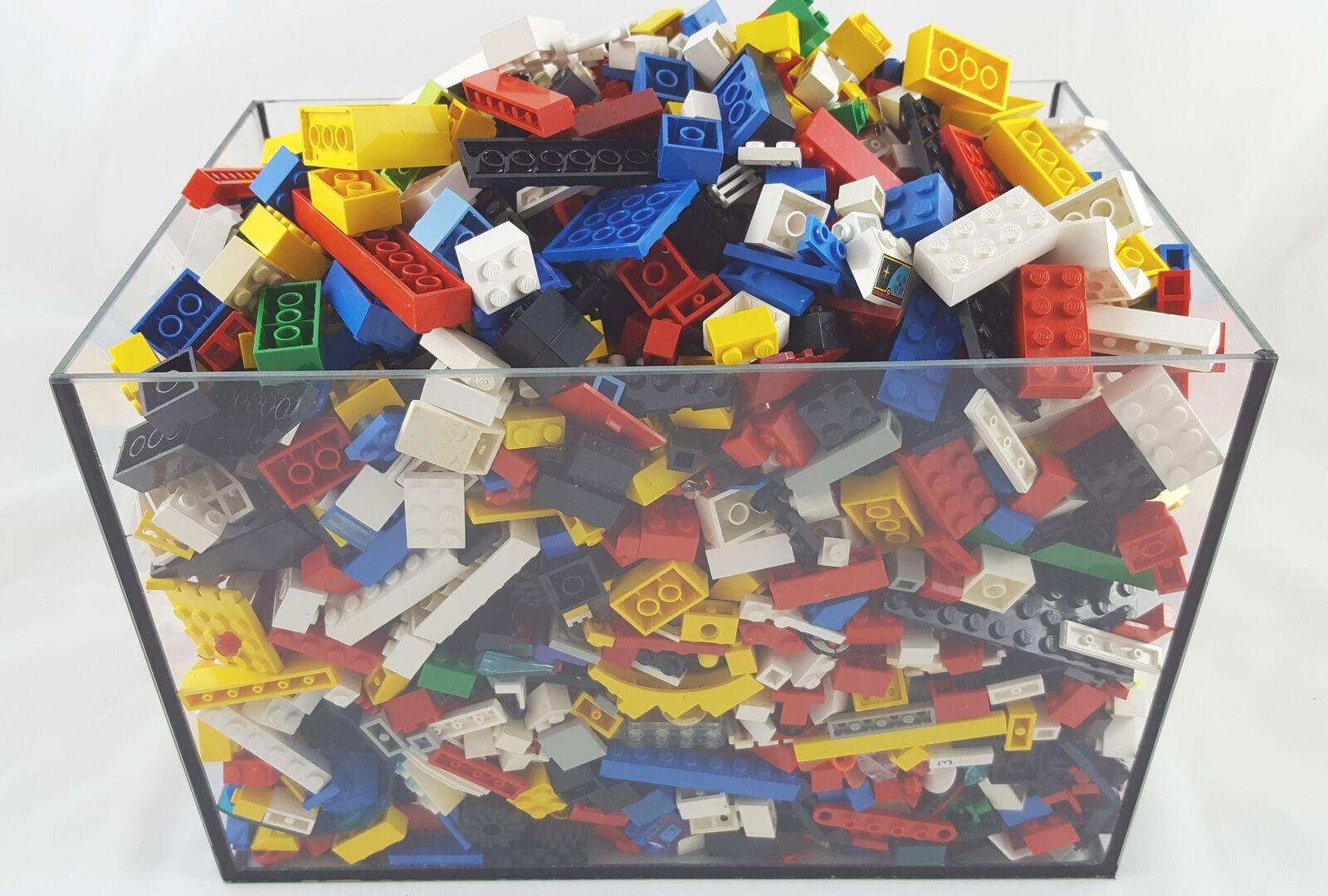 3 kg LEGO Steine Platten Räder Basic mit drei Figuren ca 2100 Bausteine Kiloware