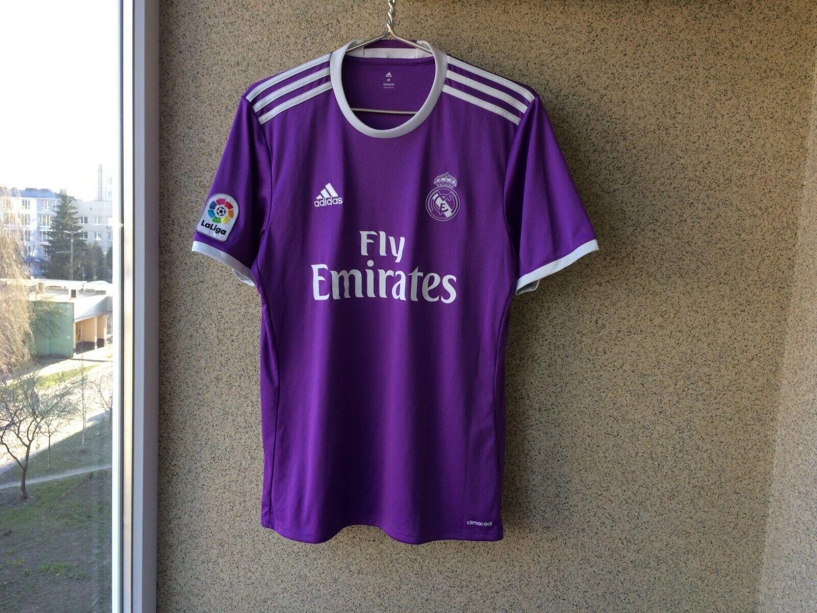Real Madrid Away football shirt 20162017 Jersey M Soccer Camiseta Spain Adidas