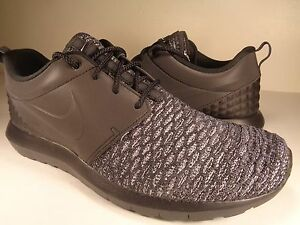 10f99e7e486a Nike Roshe NM Flyknit PRM Reflective Dark Grey Black White SZ 7.5 ...
