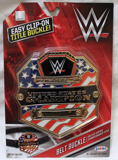 "WWE Wrestling /""United States Champion/"" Title Belt Buckle Clip on Toy NEW"