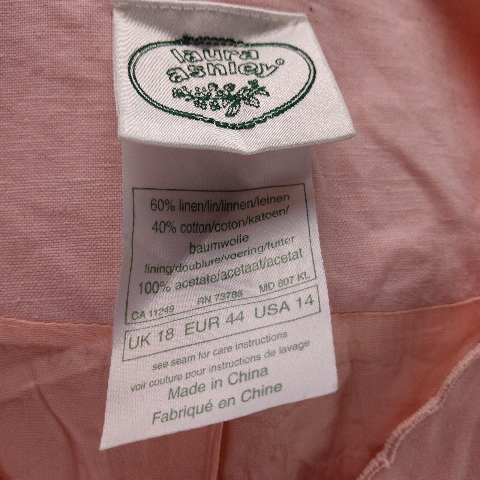 Vintage Laura Ashley Linen Eyelet Dress Size 14 P… - image 10