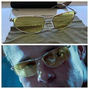 Oliver-Peoples-Nitro-61-Shooter-Yellow-Mr-And-Mrs-Smith-Brad-Pitt-New-Silver