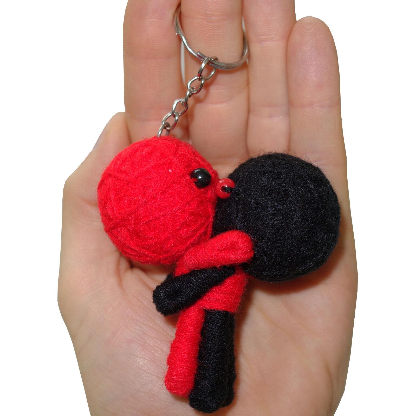 2 X Día de San Valentín Romántico Romance Pareja Voodoo Doll Llavero Llaveros presenta