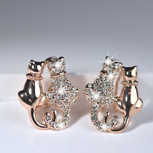 18k-rose-gold-gf-made-with-SWAROVSKI-crystal-cats-in-love-dating-stud-earrings
