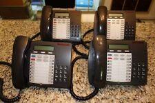 Lot Of 4 Mitel Superset 4025 Speaker Display Dark Grey With Handsets
