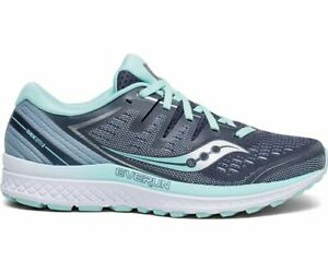 5b23829d7c Details about Saucony Guide ISO 2 Wide Slate Aqua Blue Womens Stability  Running Shoes S10465-1