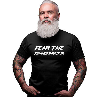 FEAR THE FINANCE DIRECTOR PERSONALISED BLACK T SHIRT DAD GIFT XMAS | eBay