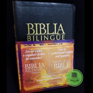 Biblia-Dios-habla-hoy-Bilingue-DHH-GNT-Imitacion-piel-negro-Sin-deuterocanonicos